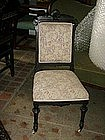 Ebonized  renaissance revival American side chair