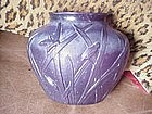 Frosted cut art glass vase, ca 1920