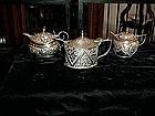Silver Mustard Pot, three