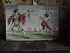 Scaramouche Italian tile-19c