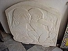 Marble carving Bas Relief Mother/Child sgnd 100yrs