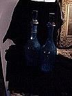 Cut crystal bottles, ca 1900 (2)