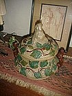 German Stoneware Tureen Pig Motif-100yrs