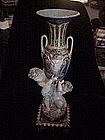Italian Majolica Vase -Puttis and Masks 1880s