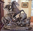 Massive Bronze, Moor and Lion 120yrs
