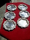 Six American Sterling Silver Butter Pats or Nut Dishes