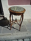 French Louis XVth Style Marble Top Lamp Table 1930s