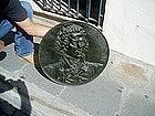 Cast Iron Bas Relief General George Washington 19thc