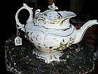19thc Hand Painted English Porcelain Tea Pot