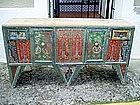 Islamic Palestinian Tin /Wood Chest ca 1900 Rare