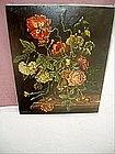19thc Spanish Flower Painting Sgnd