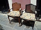 Pr Louis XVTH Style Caned Armchairs ca 1920s French