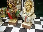 PR Large Busts for Garden Loius XIVth & His Lady