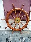 Cherry & Brass Ships Wheel  Large