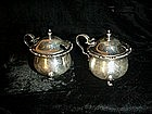 Matched Pr English Sterling  Mustard Pots