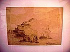 English Pencil  Drawing   1823 -----Signed