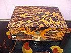 19thc Tortoise Shell Sewing Box Chinese