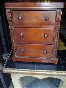 American Victorian Chest  Salesman Sample 19thc