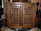 English Charles II Oak Cupboard--1650