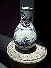 18thc Delft Jar West Indian Motifs White Blue Aubergine
