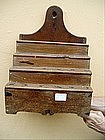 Spanish Early 19thc Spoon Rack  Walnut