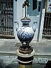 Italian Ceramic Cantagalli/Lamp Vase ca 1900.