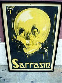 French Magic Poster Momento Mori 1920s Lithograph