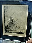 Signed English 19thc Orientalist Engraving By Detmold