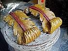 Pair 17thc Carved Wood Decorative Items  Italian