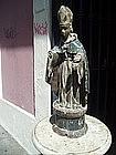 Spanish Colonial Bishop  Santo Sculpture ca 1800