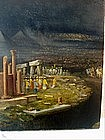 19thc Oil Painting--Parade of Ancient Civilization