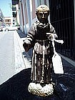 Spanish Colonial Santo Carved Monk 19thc