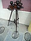 Mahogany English Arts  and Crafts Pipe Stand-1900