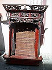 Chinese Elmwood Lacquered Altar Front ca 1800