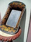 American Tole Bread Basket 1880 Gilt Grapes Sgnd