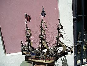 Antique Handmade English Galleon ca1900