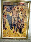 Russian Socialist Realism Lge Oil Painting Sgnd  Listed