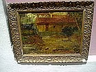Italian Oil Paining on Panel Sgnd ca 1930s