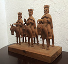 Puerto Rican Three Kings Santo 20thc Sgnd