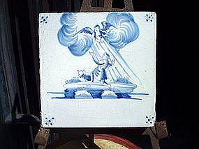 18thc Dutch Delft Blue White Biblical
