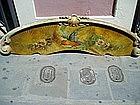 Lge Painted Panel Parrot Motif ca1900 Overdoor Italian