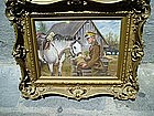 Polish  Calvary Oil Painting J Kossak 1930s