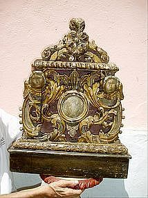 17thc Architectural Carved Gilt  Wood  Baroque