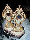 Pr Spanish Carved Gilt Polychrome Reliquaries 1860s