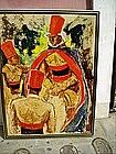 Lge American Painting Turks- P.Woodruff Lstd Record