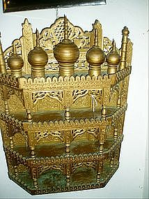 East Indian Carved Gilt Wall Shelf ca 1900