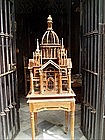 Spectacular Victorian Architectural Bird Cage- Teak