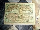 W.Indies Maps Jamaica, St Vincent, Grenada,Dominique