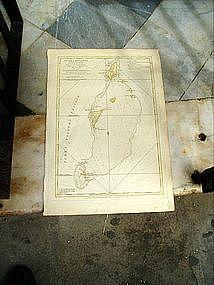 18thc West Indies Turk Islands by E.Hawke 1770