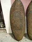 Pr Carved Wood African Masai Shields  Early